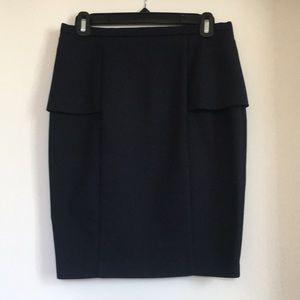 Zara pencil skirt with peplum, Navy Blue, Size S